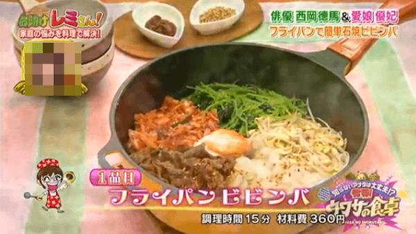 平野レミのフライパンで作る石焼ビビンバレシピ