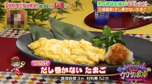 平野レミの食べればだし巻き卵(巻かないたまご)レシピ