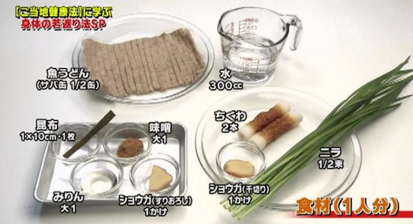 奥園流ニラ味噌魚うどんレシピ・作り方