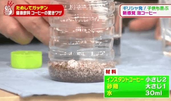 NHKためしてガッテンの泡コーヒーの分量