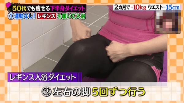 レギンス入浴ダイエットのマッサージのやり方