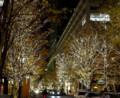 12/07 街路樹もピッカピカ(於 丸ビル近辺)