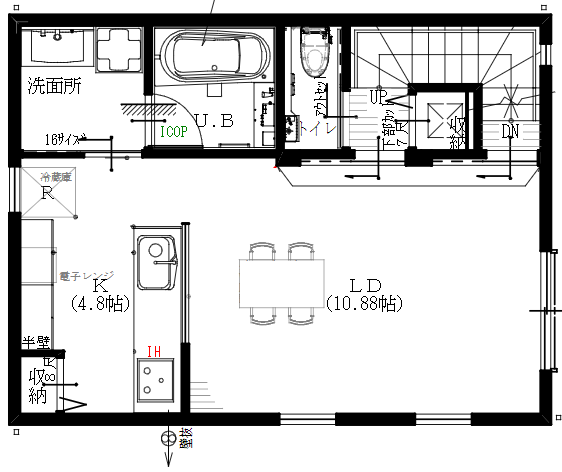 2階間取り:家事動線意識