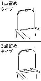 風呂ふた:1点留め・3点留め