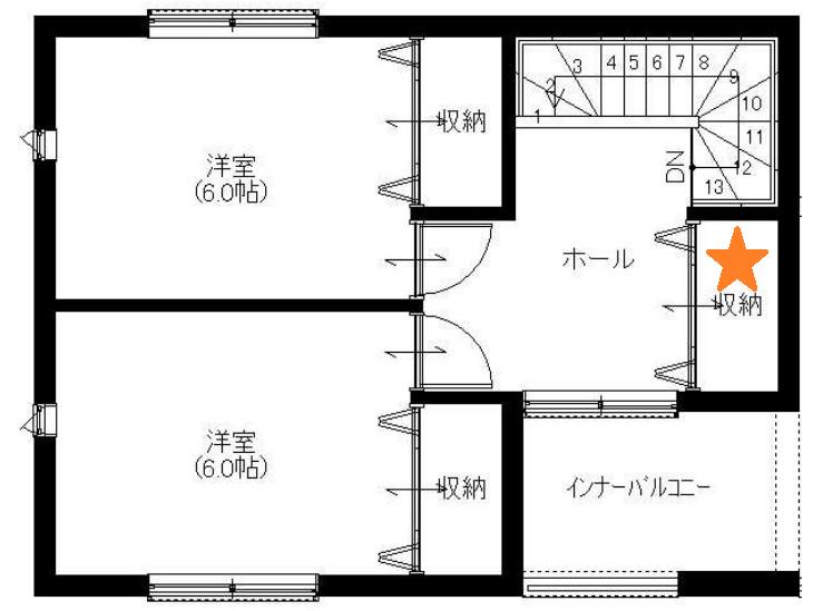 3階間取り:プロトタイプ