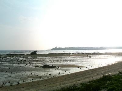 知らない村の浜辺
