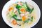 冷凍野菜と豚ロース肉の豆乳シチュー・レシピ