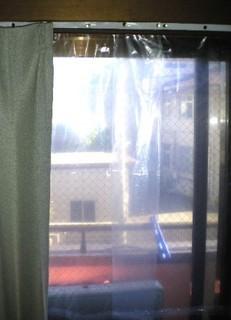 ゴミ袋の遮熱カーテン1
