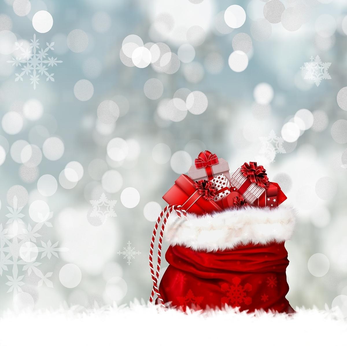 クリスマスプレゼントが入っているバッグ