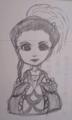 なんか、ノリで描いた二等身マルグリットさん