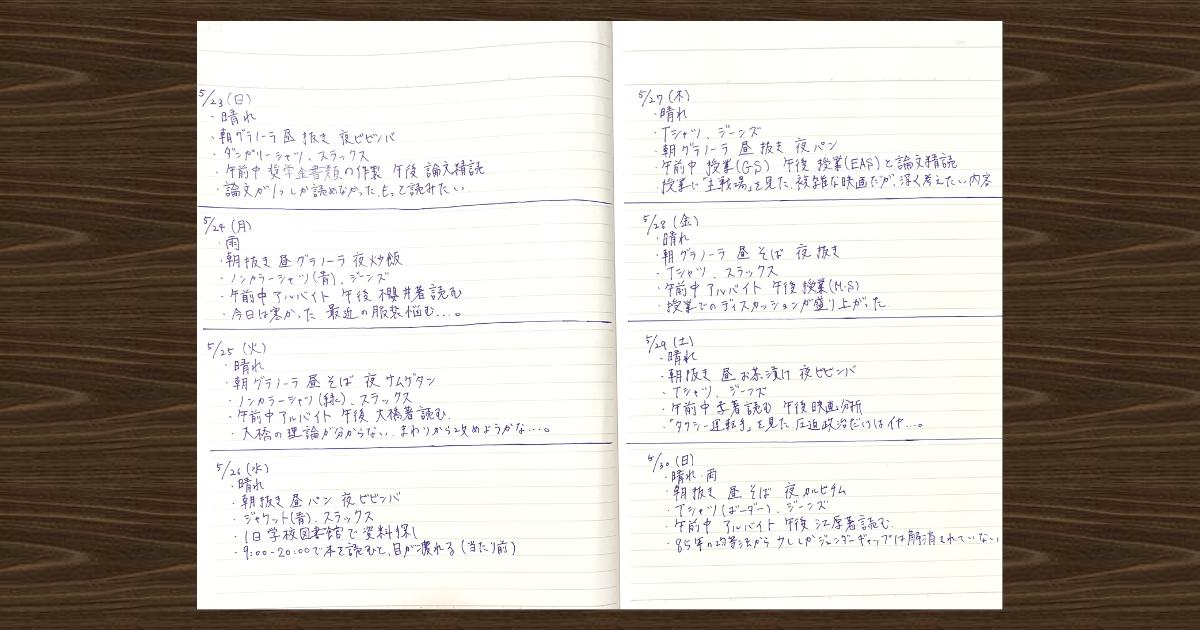 脳神経内科医がすすめる「5行日記」03