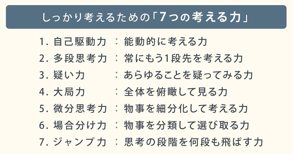 西成活裕先生「7つの考える力」04