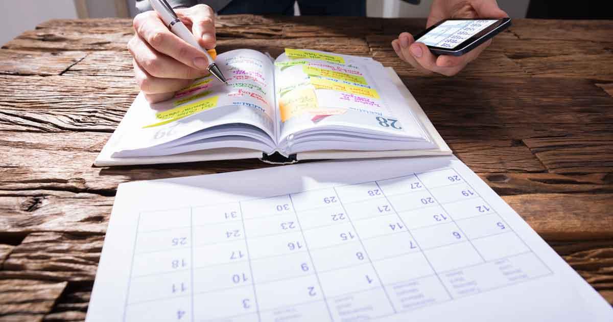 手帳でスケジュール管理する方法1