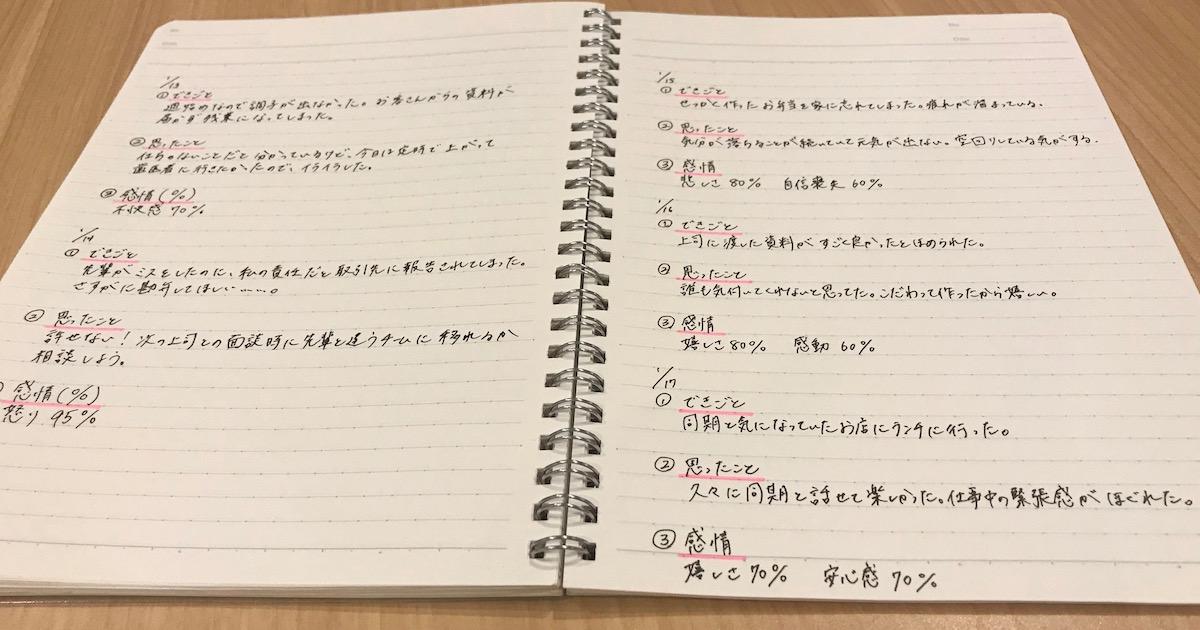 感情日記を書いてみた
