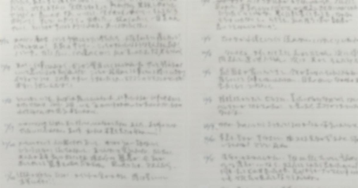 筆者が実際に書いた「嫌なことノート」