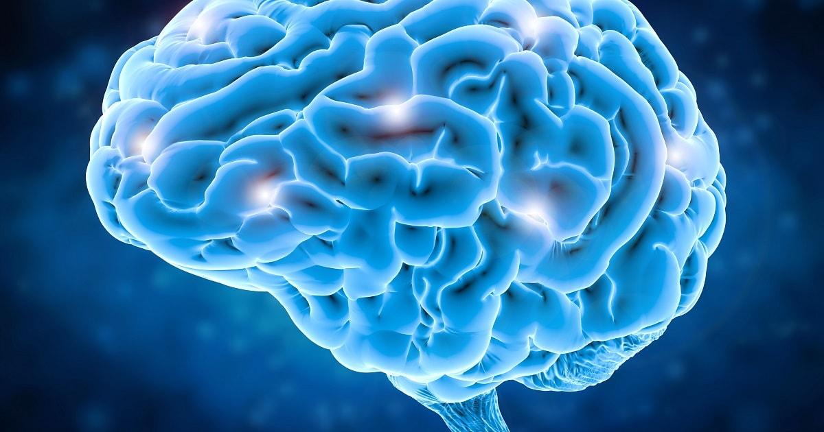 広範囲に脳を活性化させているイラスト