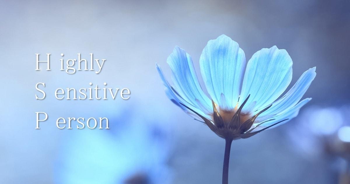 HSPのような、青く繊細な雰囲気の花
