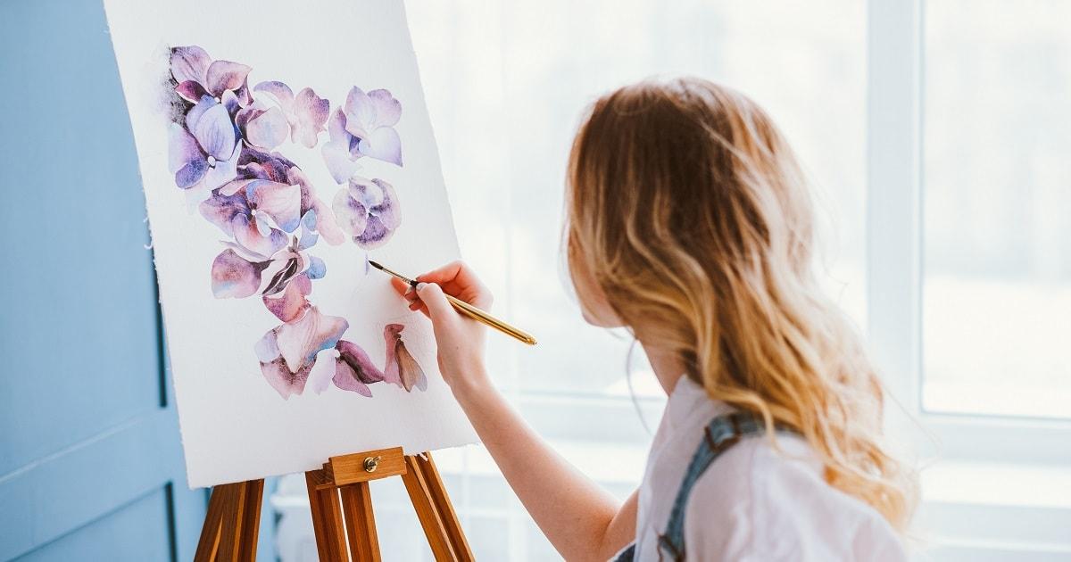 とても繊細な絵を描くアーティスト