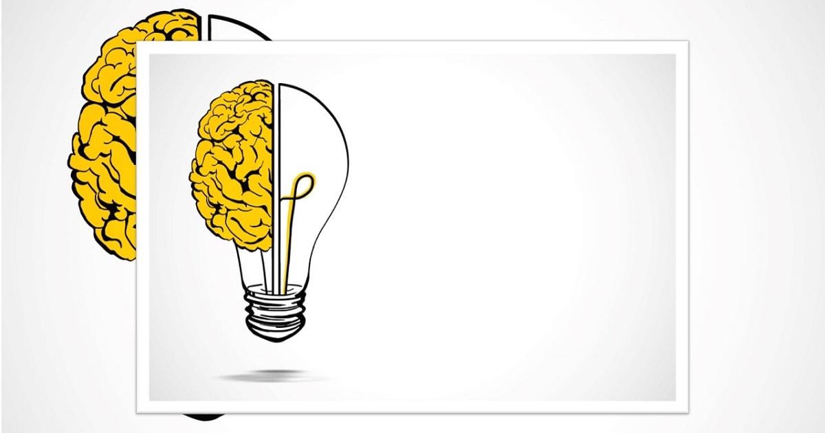 脳と電球を組み合わせたイラスト