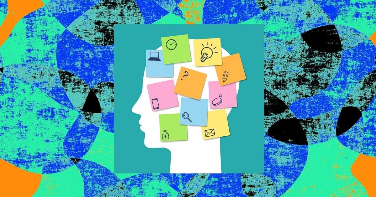 脳のメモ帳とも呼ばれるワーキングメモリを表したイラスト