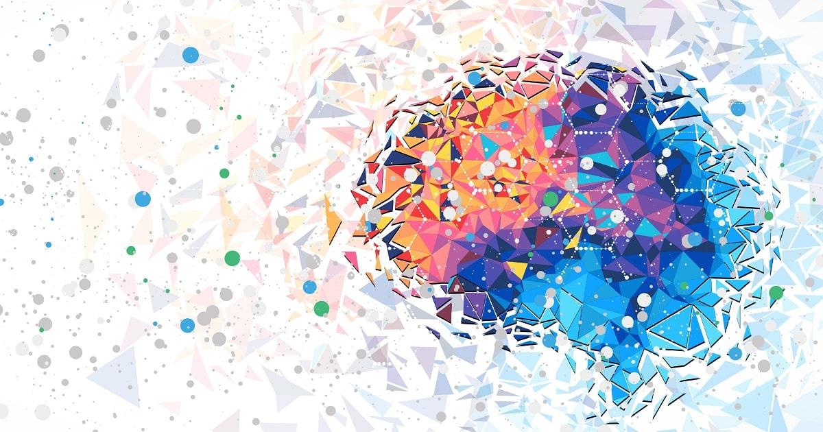 抽象化した脳のイラスト