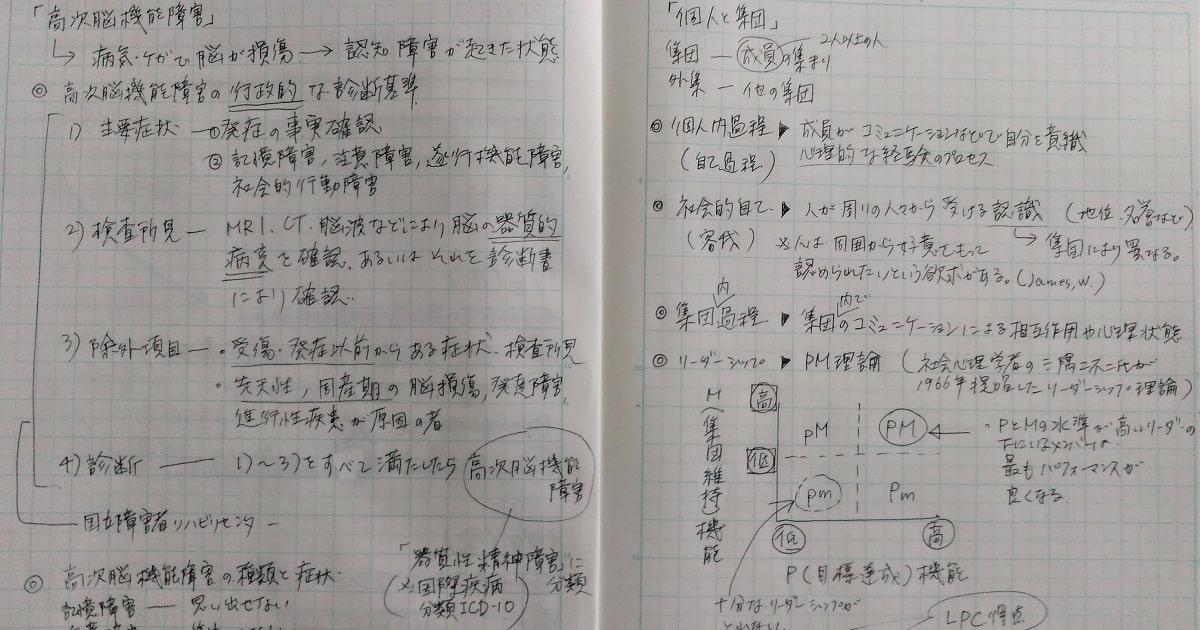 「AGESモデル」にそって勉強したノートの画像