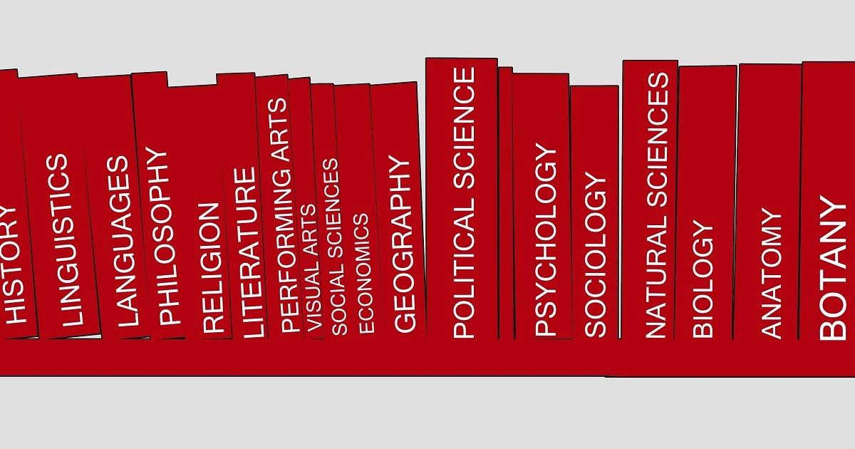 さまざまなカテゴリーの本