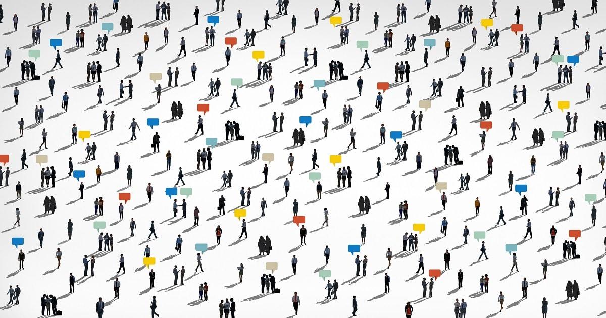 コミュニケーションする人々、HSPを含む多様な群衆の概念