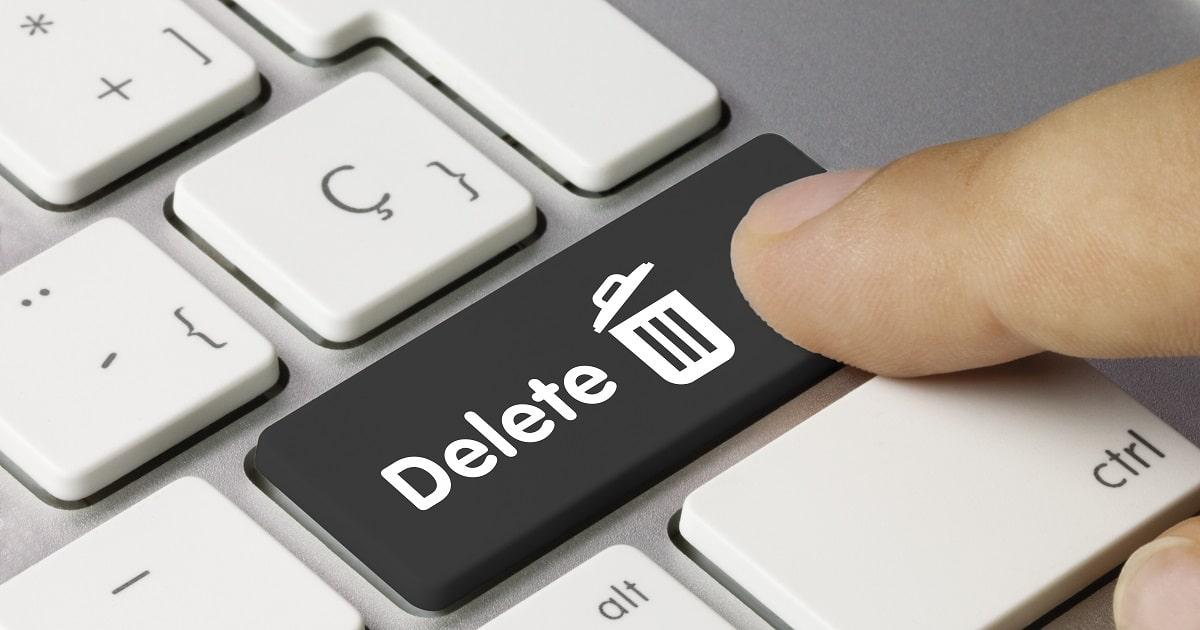 Deleteボタンのデフォルメ画像