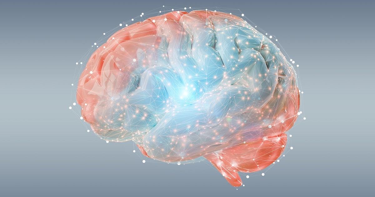 光を放つ脳のイラスト