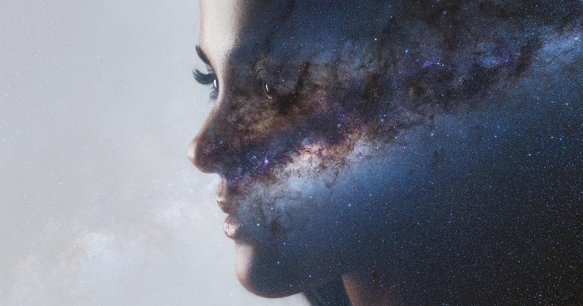 まるで宇宙空間のような脳、HSPの脳内のイメージ
