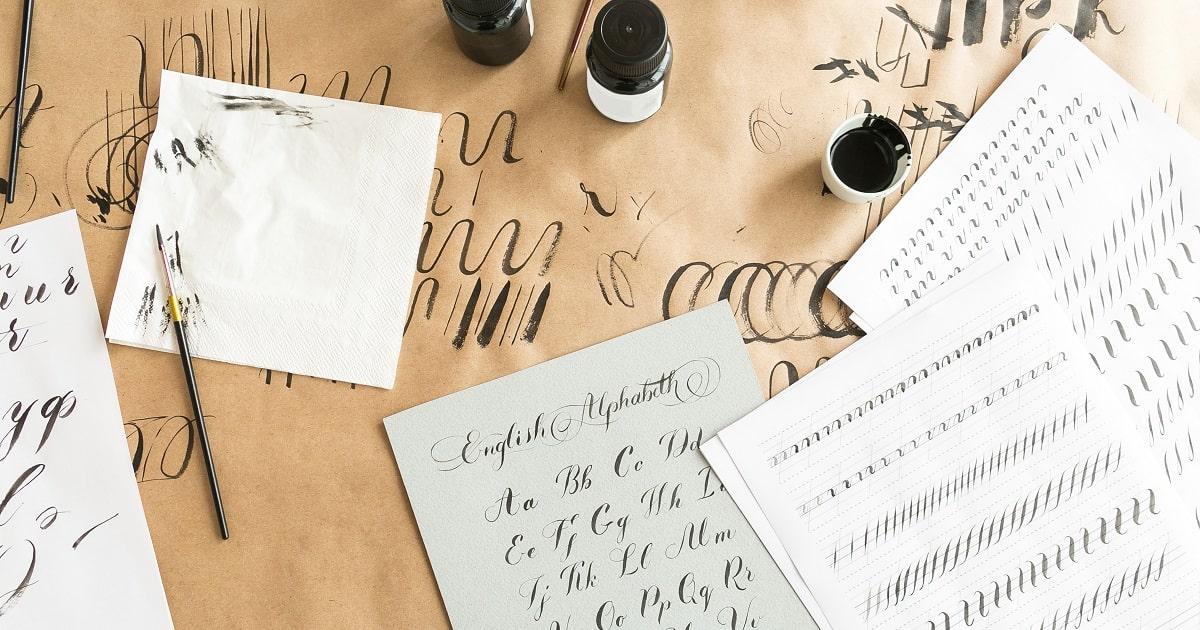 西洋の書道、文字を美しく見せるカリグラフィーの画像