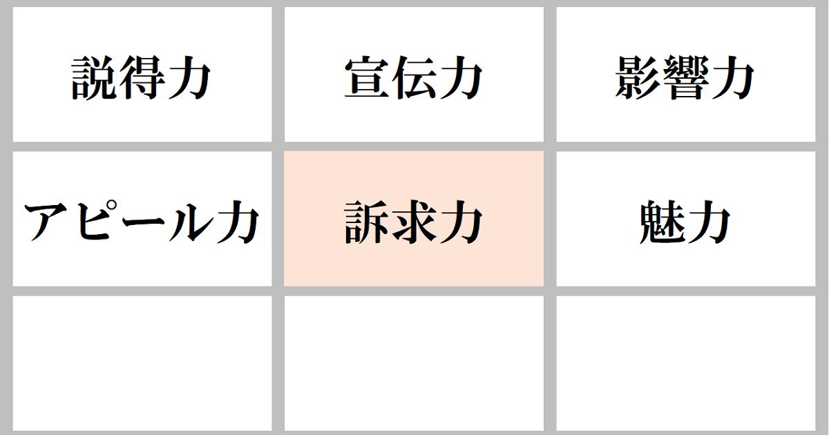 語彙力を上げる9マス類語変換ゲーム05