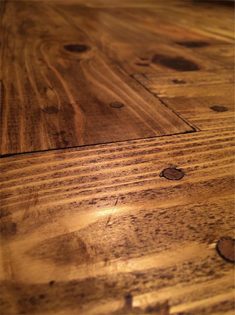 f:id:パッチワークテーブル完成図①