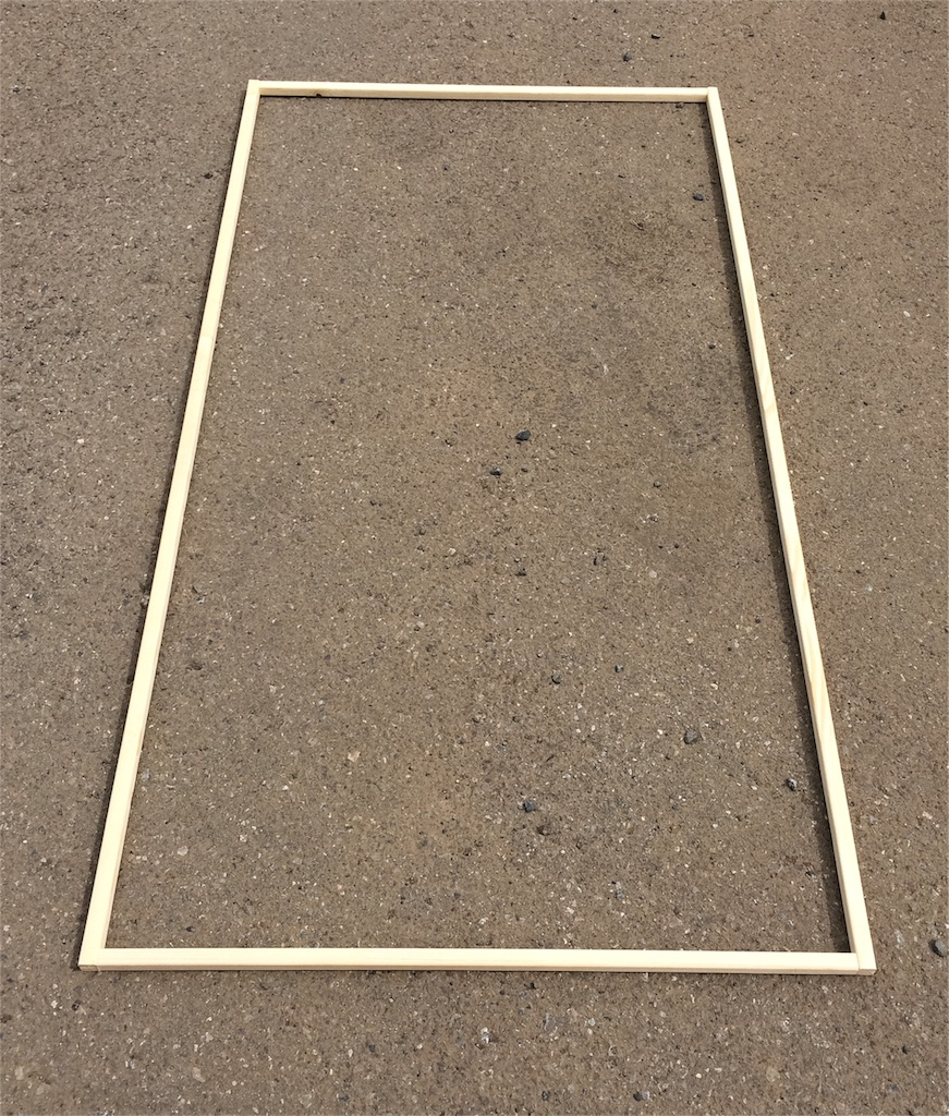 f:id:窓DIY木の枠