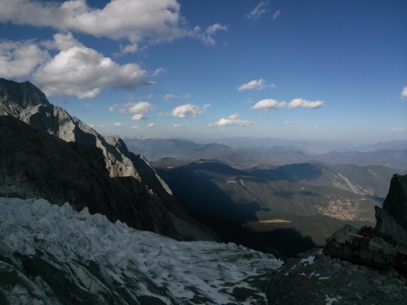 玉龍雪山,氷河