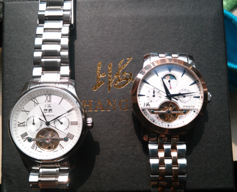 上海牌、腕時計、手表、自動巻き