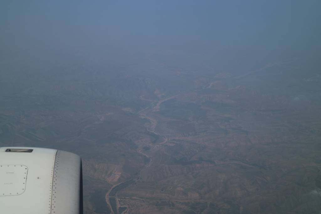 内モンゴル上空
