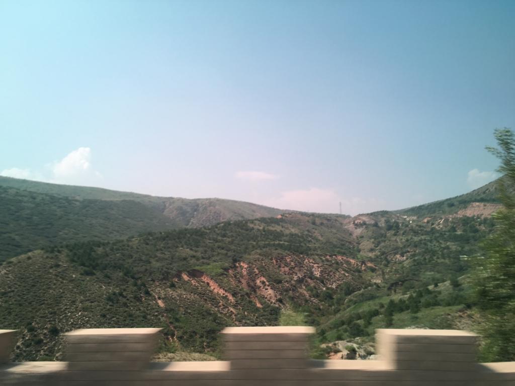 陰山山脈往路