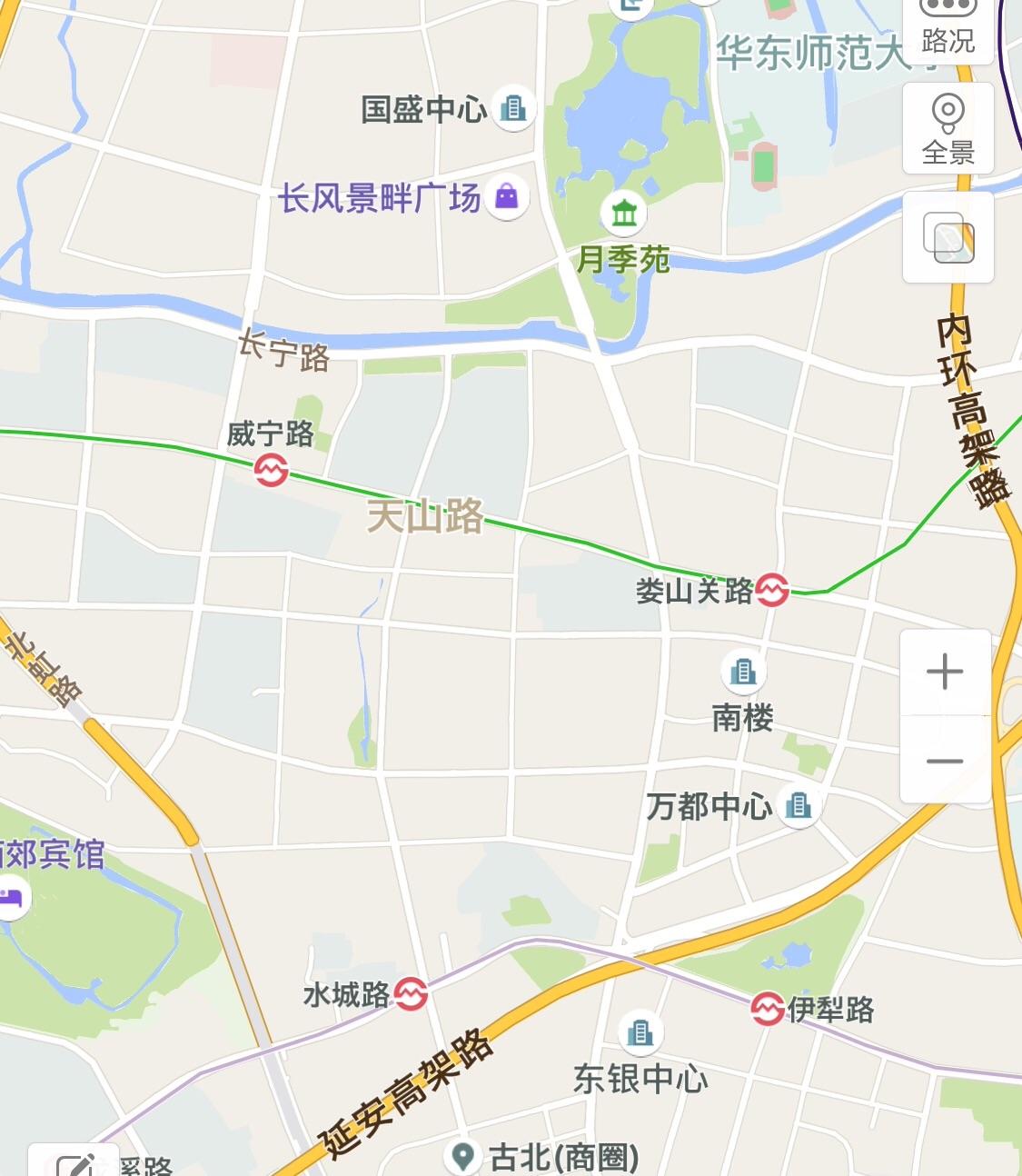 上海古北地図