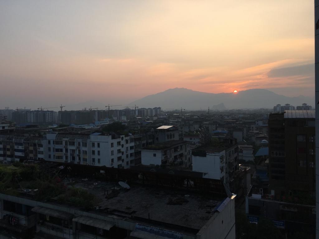桂林の朝焼け