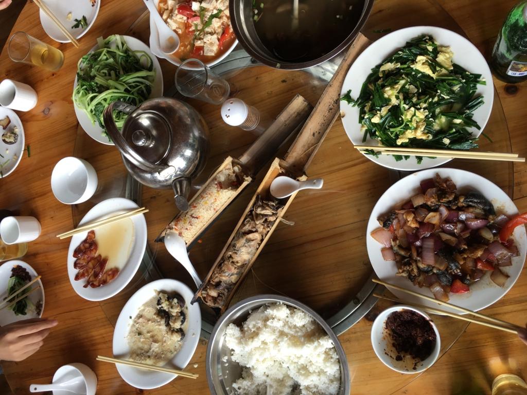 龍脊の棚田の昼食