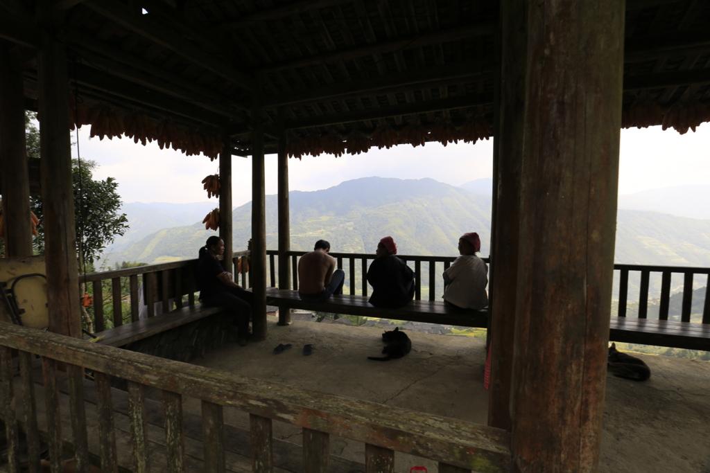 棚田に住むチワン族の人たち