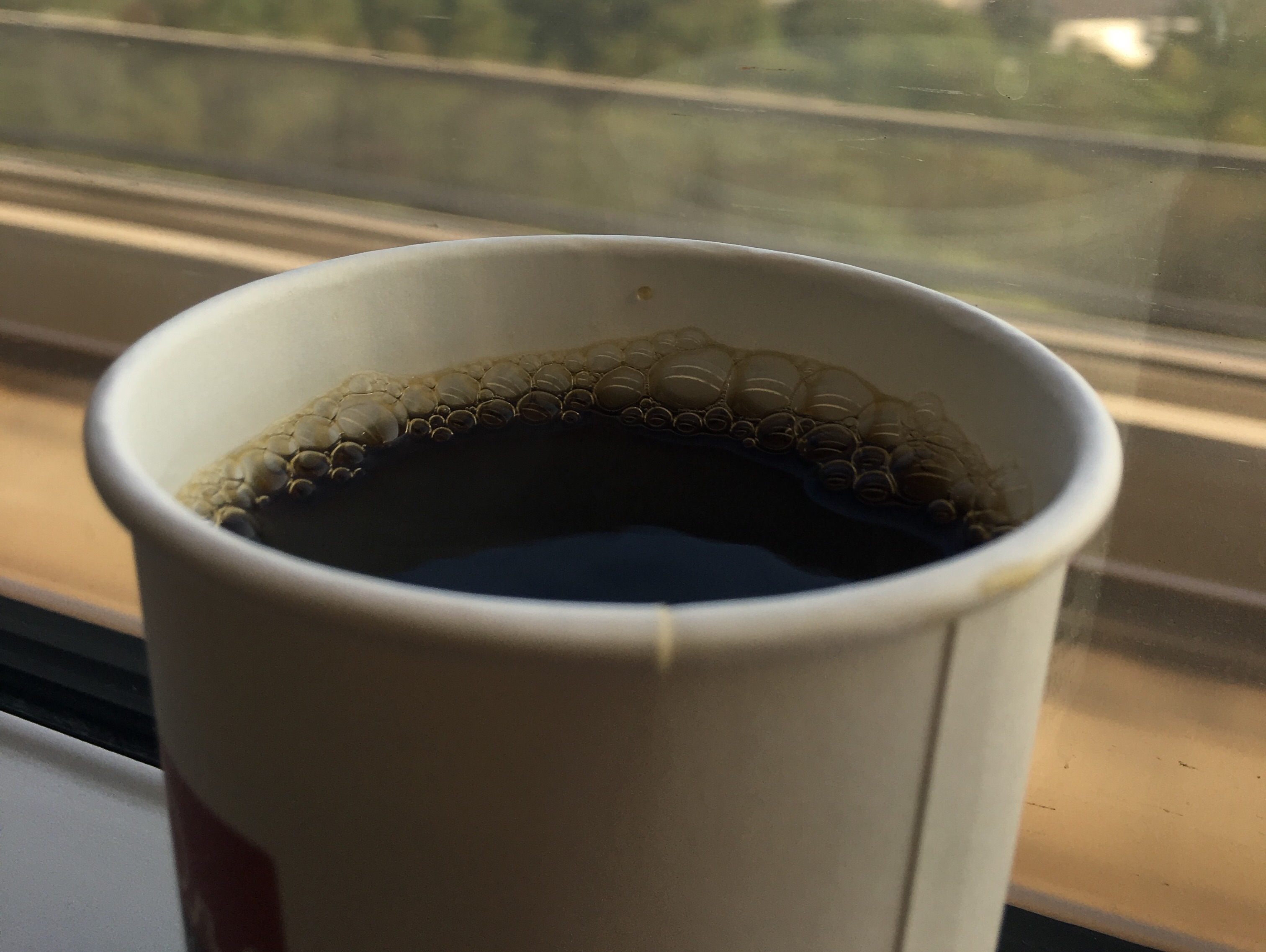 高速鉄道の現磨コーヒー