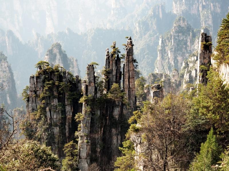 張家界国家森林公園,武陵源天子山,御笔峰