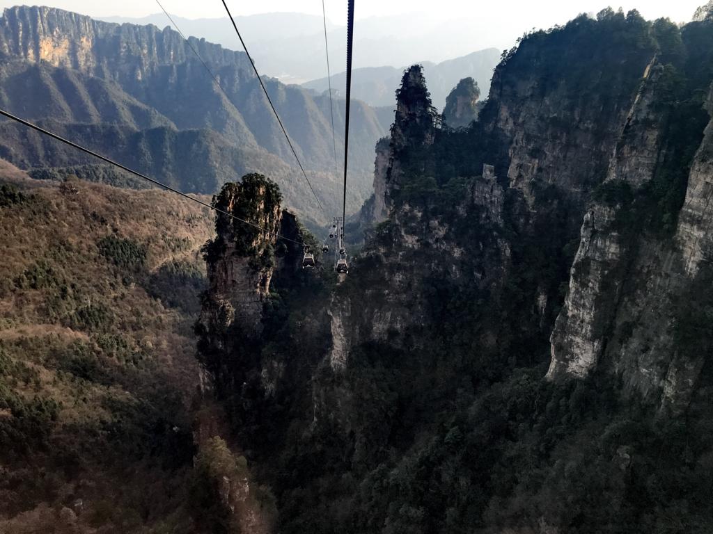 張家界国家森林公園,武陵源天子山,ロープ―ウェイ2