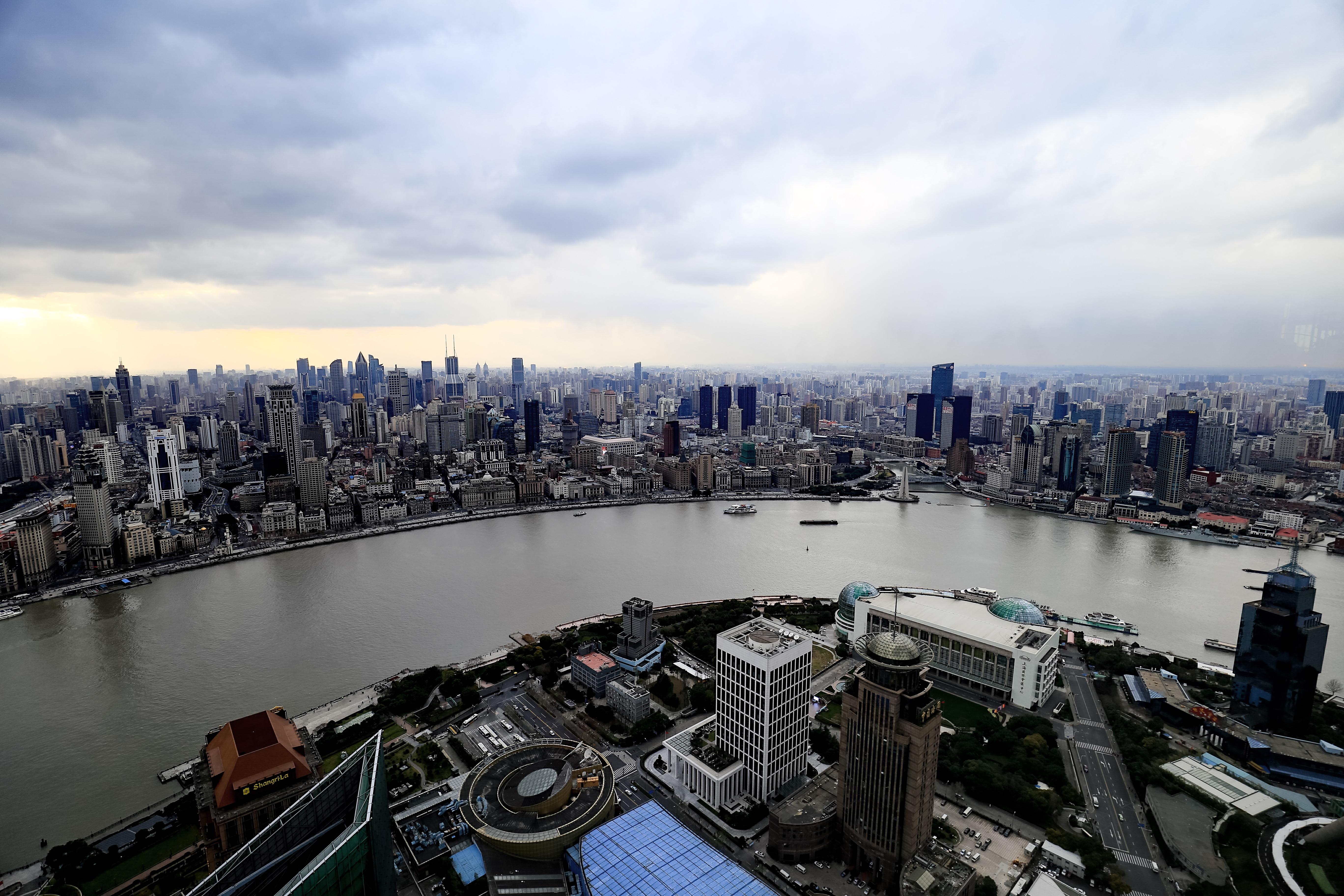 上海リッツカールトンからの景色(外灘)