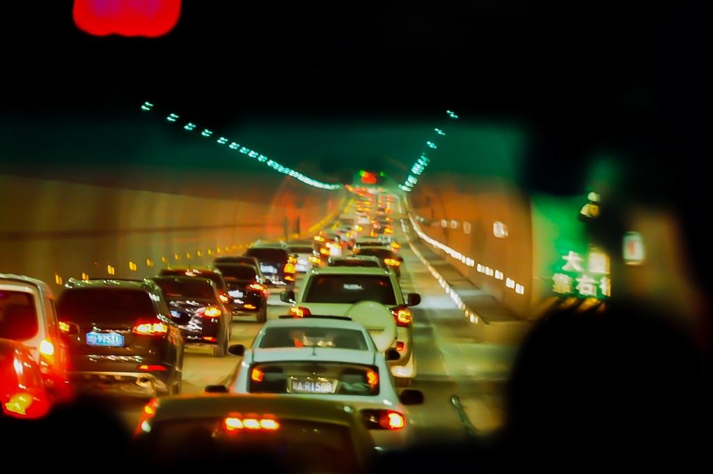 成都に帰る高速道路