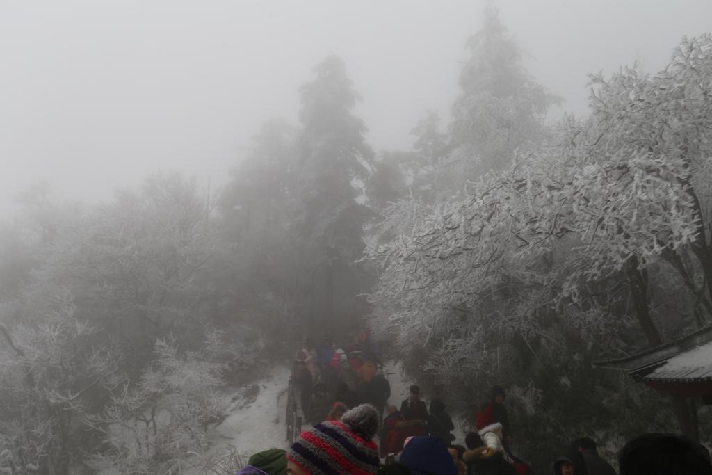 峨眉山の冬登山