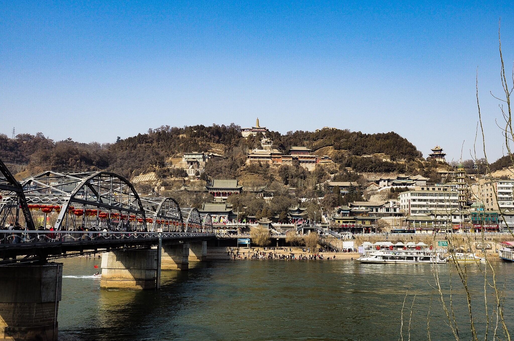 白塔山公園,中山橋(蘭州黄河鉄橋)